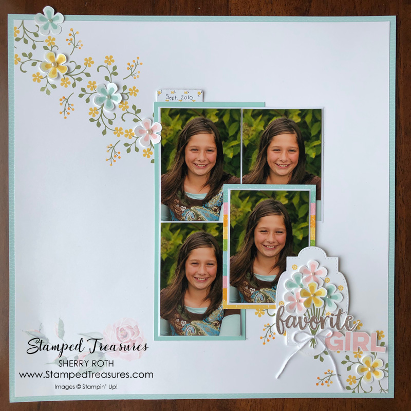 Thoughtful Blooms Scrapbook Layout