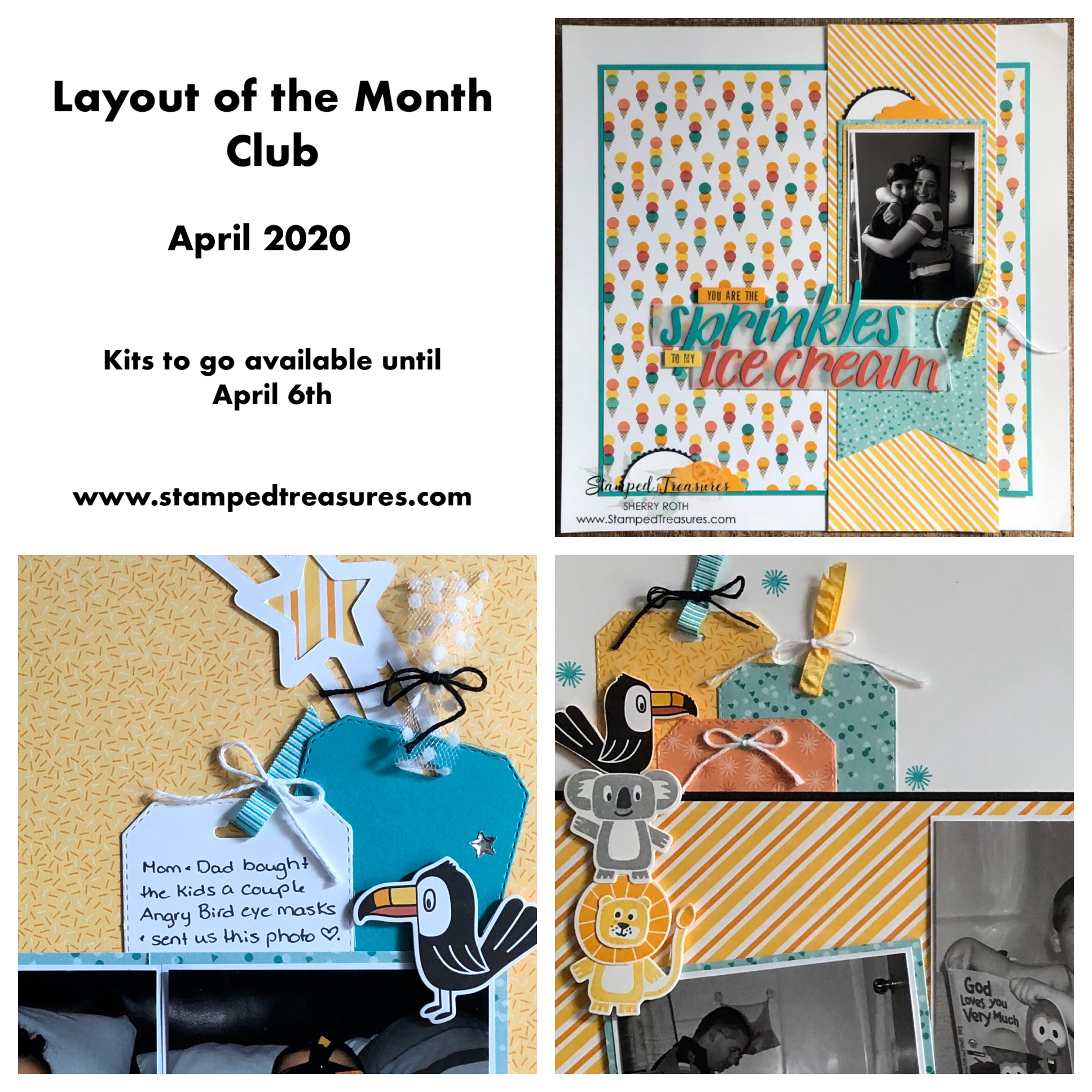 Birthday Bonanza Layout of the Month