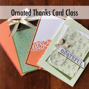 Ornate Thanks Card Class