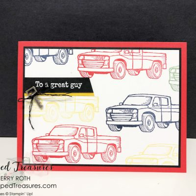 Masculine Birthday Card using Stampin' Up!'s Pedal to the Metal