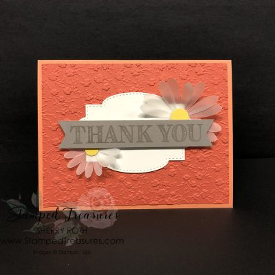 Thank You Card using Stampin' Up!'s Ornate Thanks