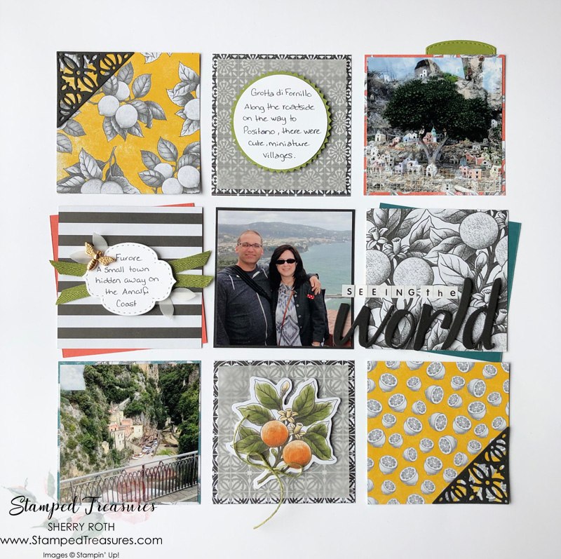 Grid Style Scrapbook Layout