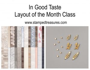 In Good Taste Layout of the Month Class