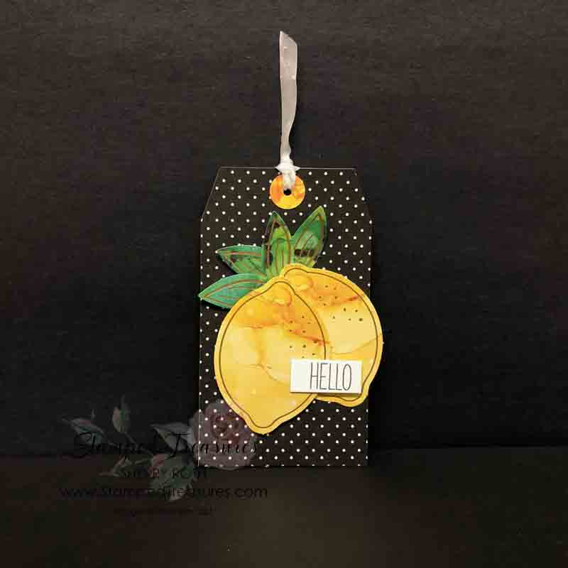 Paper Pumpkin Tag