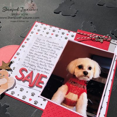 Playful Pets Scrapbook Layout