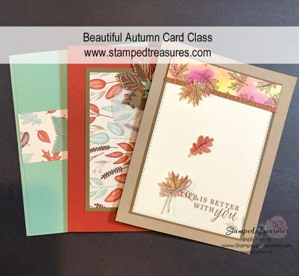 Beautiful Autumn Card Class