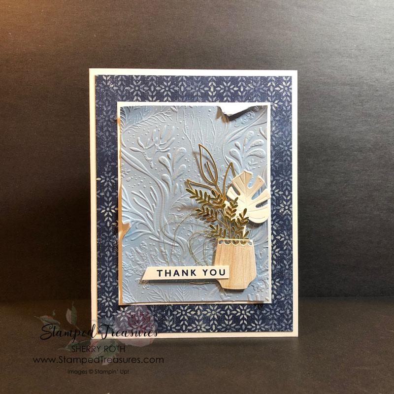 Boho Indigo Beachy Feel Card