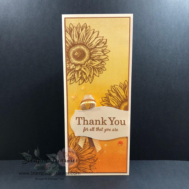 Celebrate Sunflowers Slimline Card