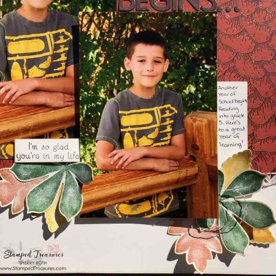 Love of Leaves Scrapbook Layout