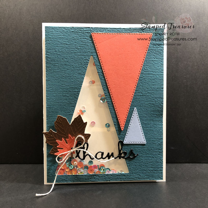 Stitched Triangle Shaker Card