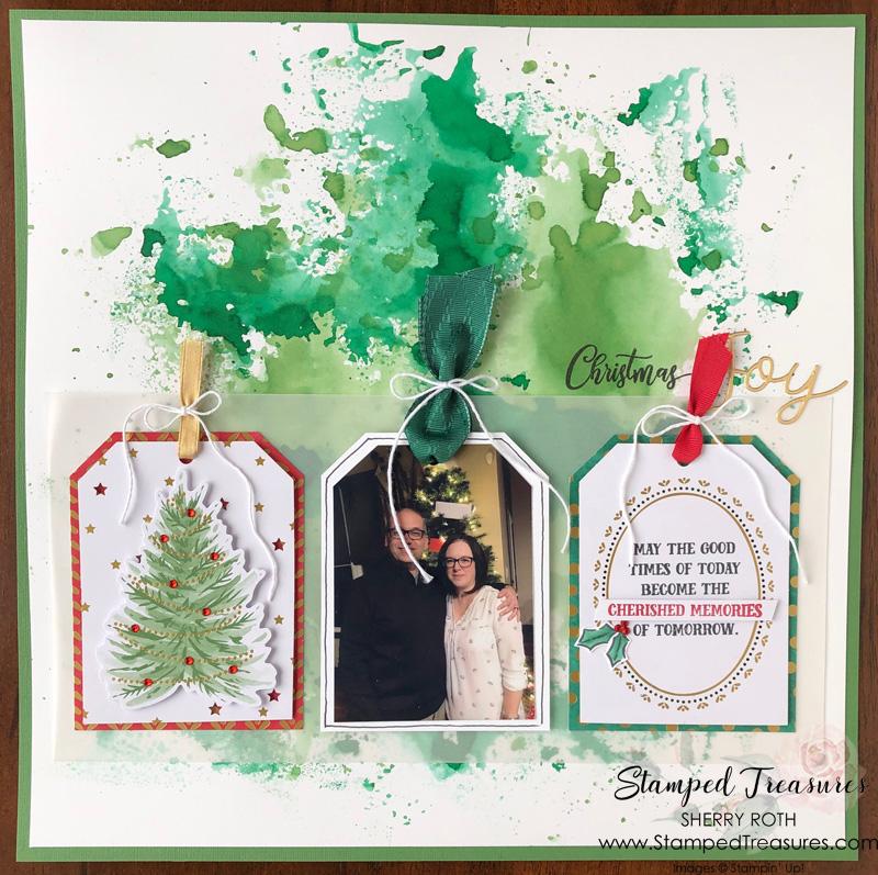 Christmas Joy Layout using Tag Buffet