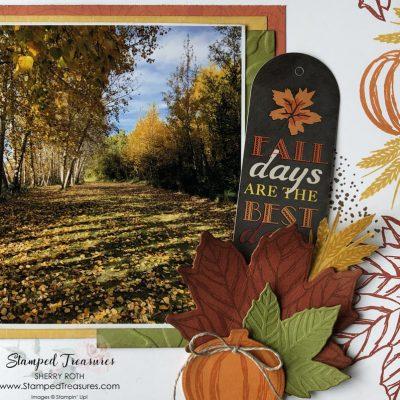 Fall Scrapbook Layout