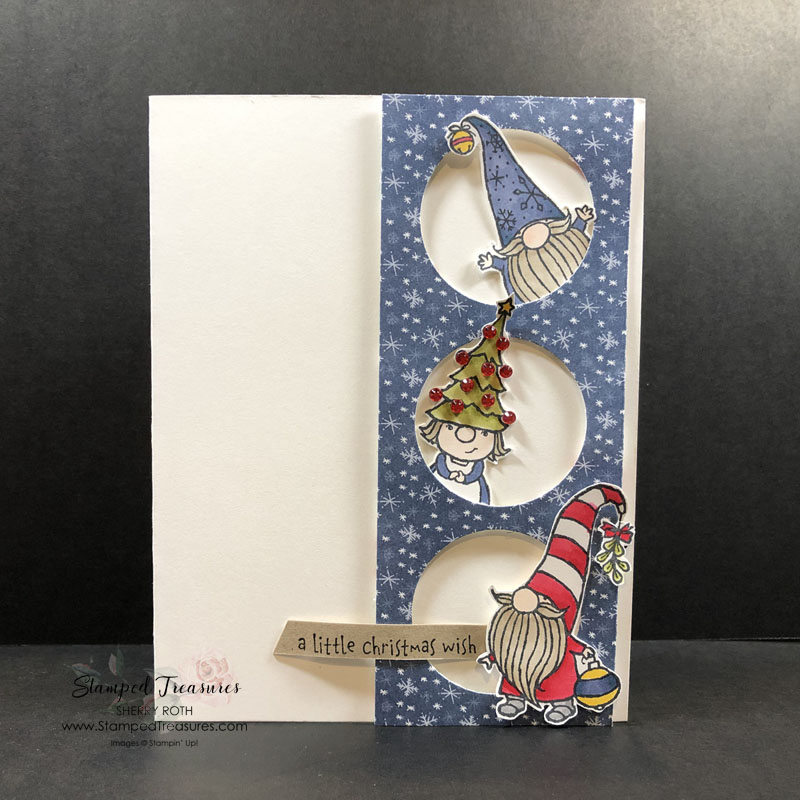 Gnome for the Holidays Peek a Boo Card