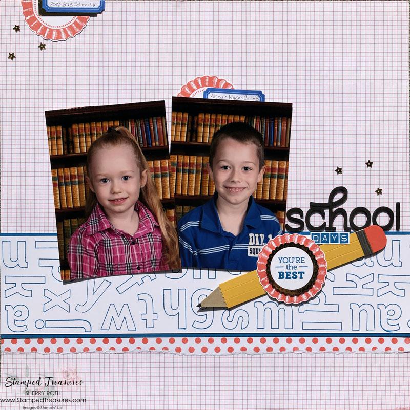 School Days Scrapbook Layout