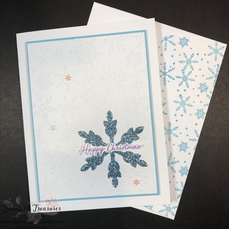 Snowflake Wishes Christmas Card