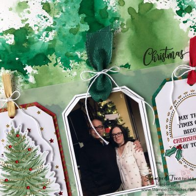 Christmas Joy Layout using the Tag Buffet