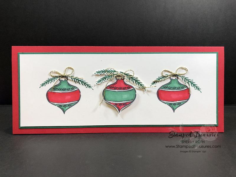 Tag Buffet Christmas Slimline Card
