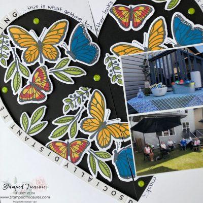 Floating & Fluttering Travellers Notebook Layout
