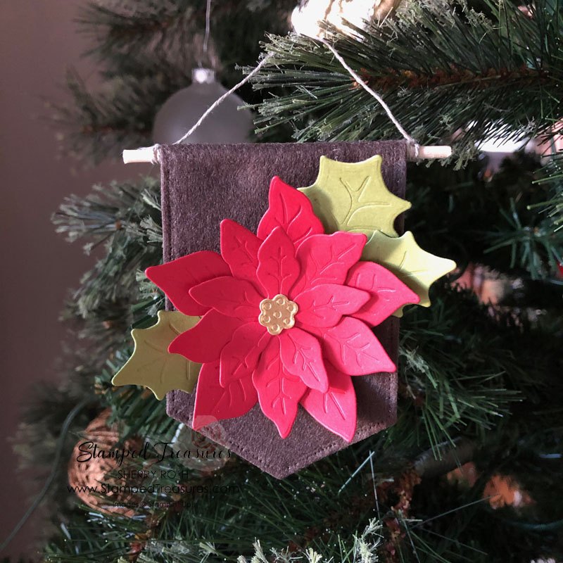 DIY Poinsettia Christmas Ornament