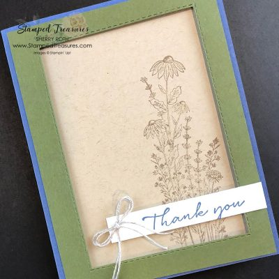 Dragonfly Garden Thank You Card