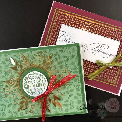 Simple Christmas Cards using the Forever Gold Specialty DSP
