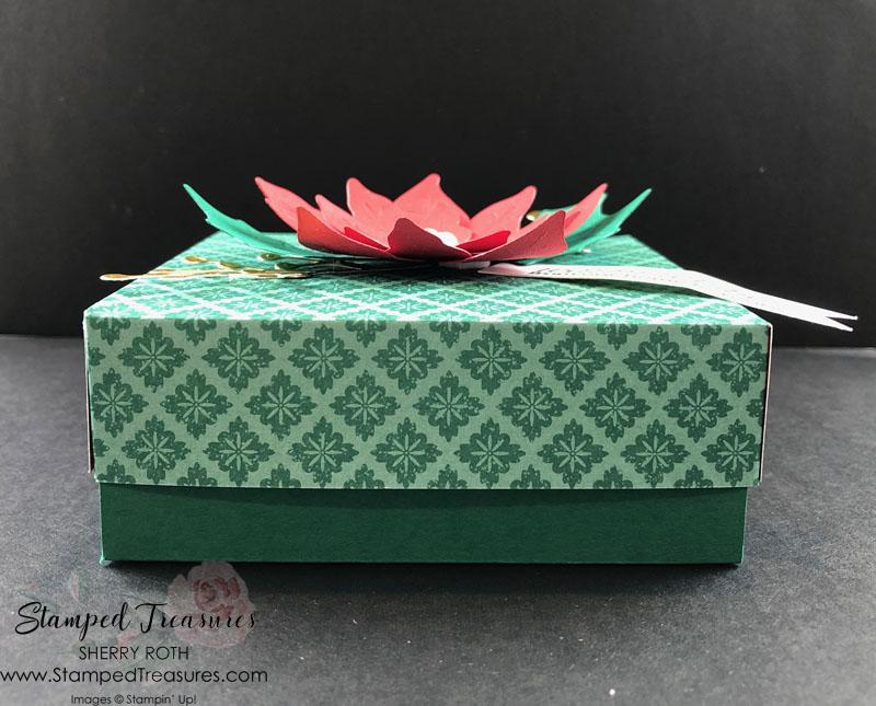 Poinsettia Petals Gift Box