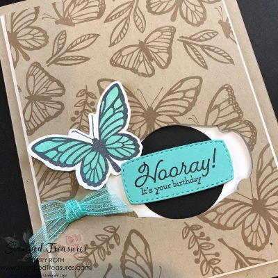 Floating & Fluttering Birthday Card