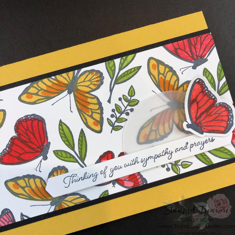 Floating & Fluttering Slimline Card