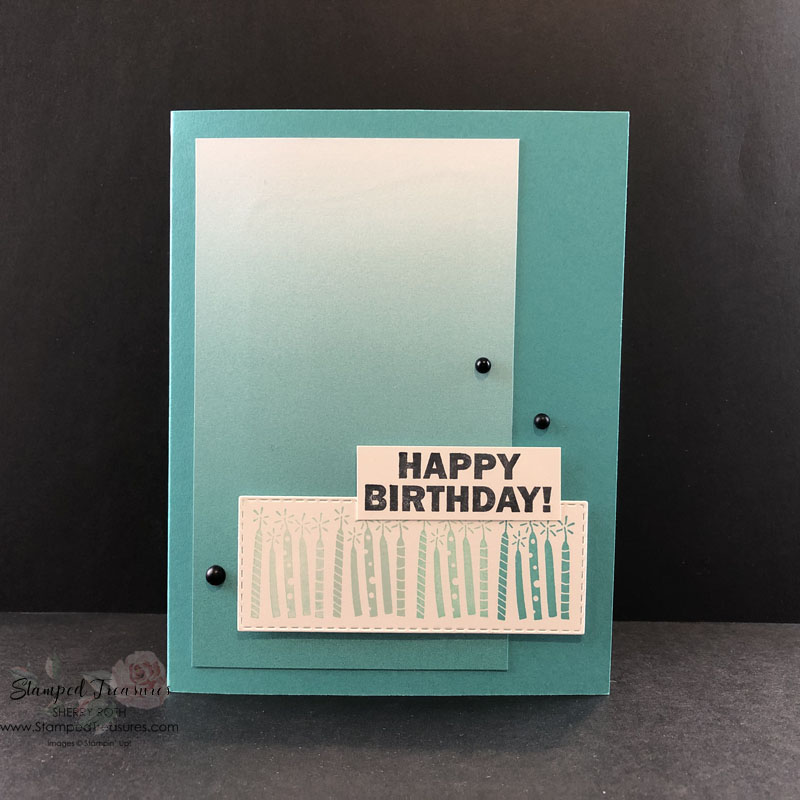 Oh So Ombre Simple Birthday Card