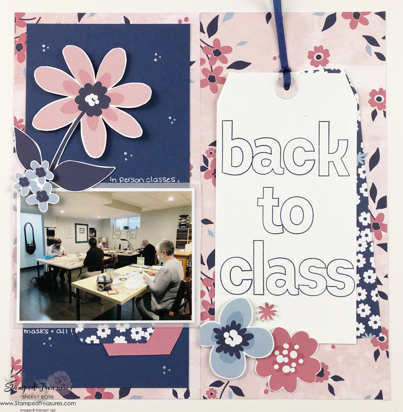 Paper Blooms Travellers Notebook Layout
