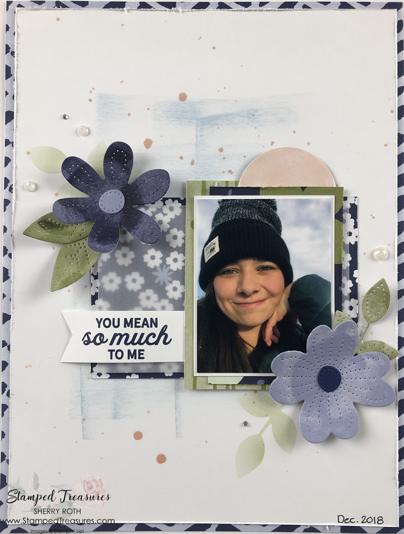 In Bloom Scrapbook Layout