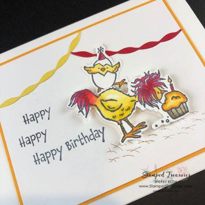 Hey Birthday Chick Happy, Happy Birthday Card