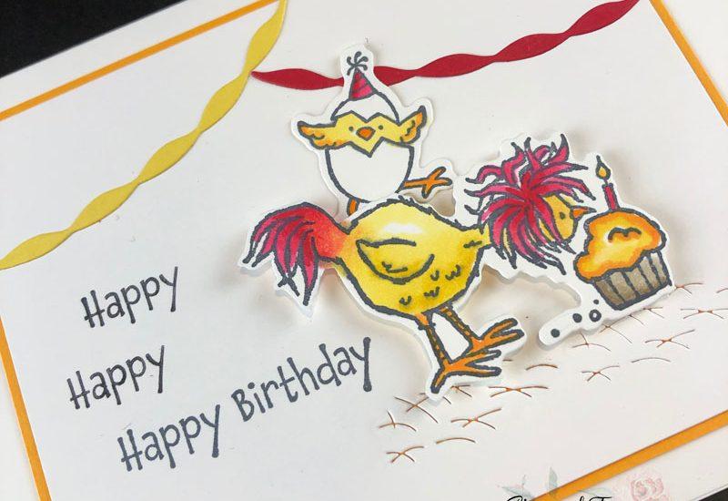 Hey Birthday Chick Birthday Card