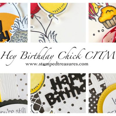 Hey Birthday Chick Card Class in the Mail