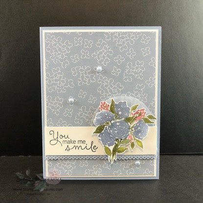 Simple Card using the Hydrangea Hill DSP