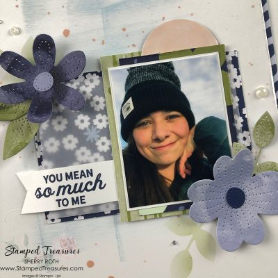 In Bloom 6x8 scrapbook layout