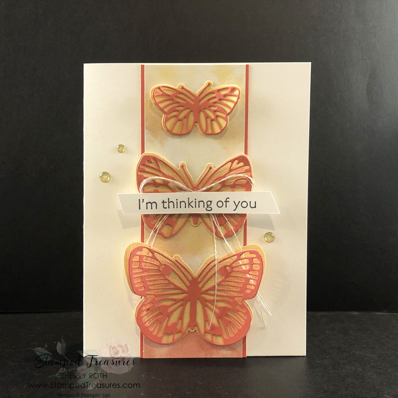 Butterfly Brilliance Thinking of You Card