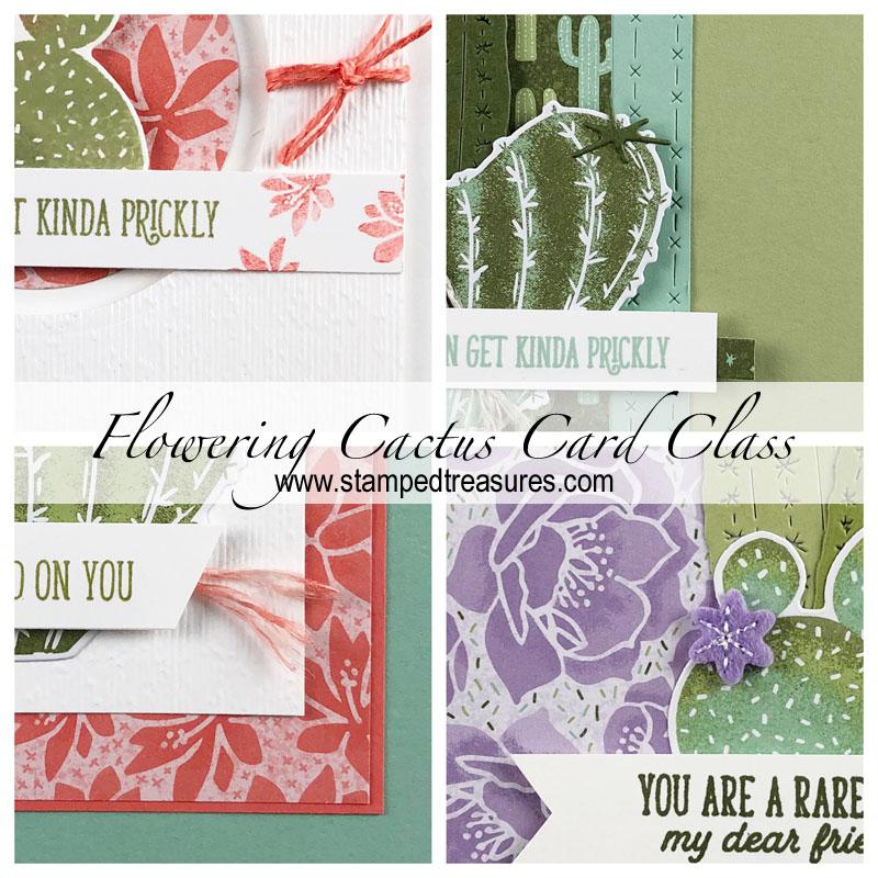 Flowering Cactus Card Class
