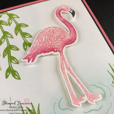 Friendly Flamingo Birthday Card