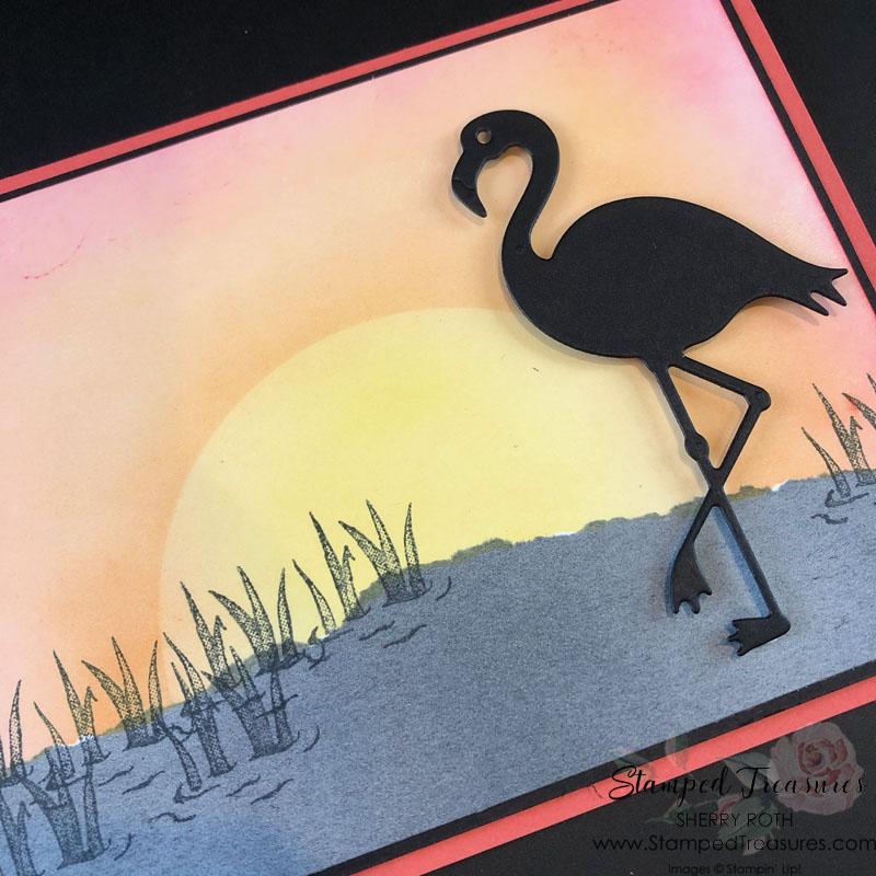 Friendly Flamingo Silhouette Card