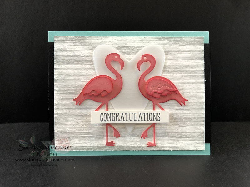 Friendly Flamingo Wedding Card