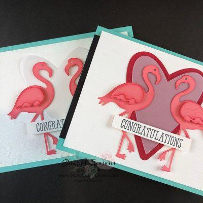Friendly Flamingo Wedding Card