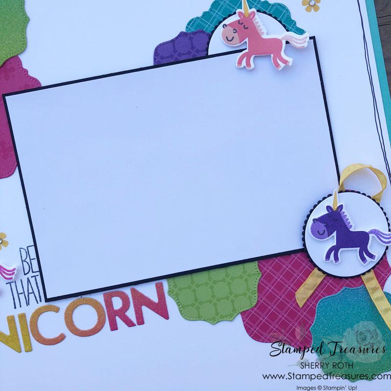 Be That Unicorn Scrapbook Layout