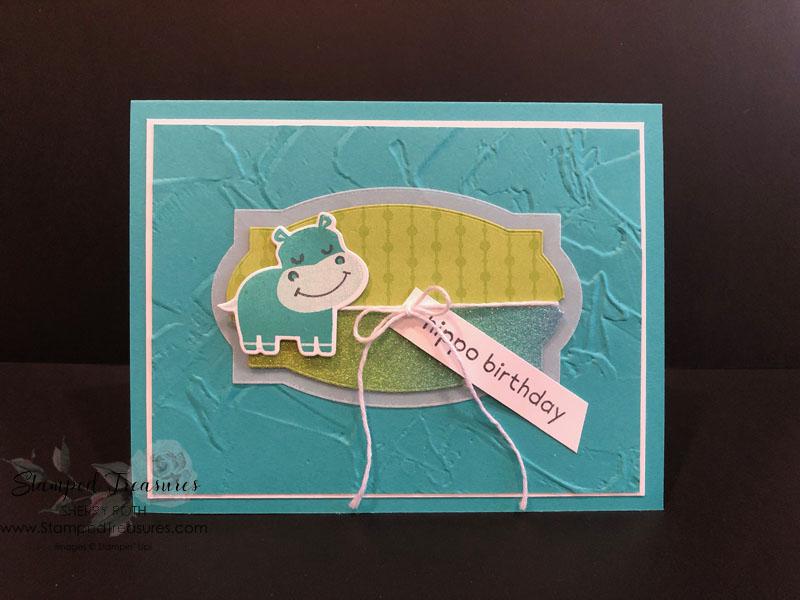 Hippo Happiness Birthday Card