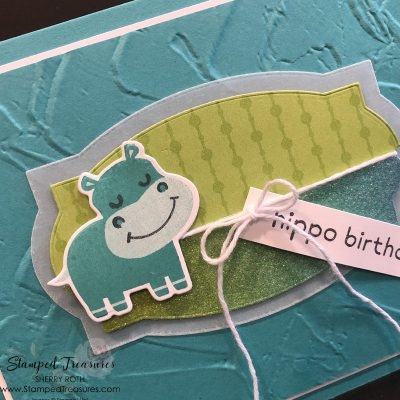 Hippo Happiness Birthday Card