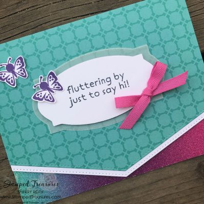 Fluttering By To Say Hi Card
