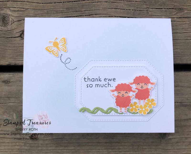 Hippo Happiness Thank Ewe Card
