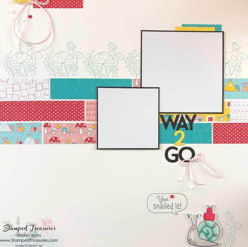 Using Patterned Paper Scraps on Layouts