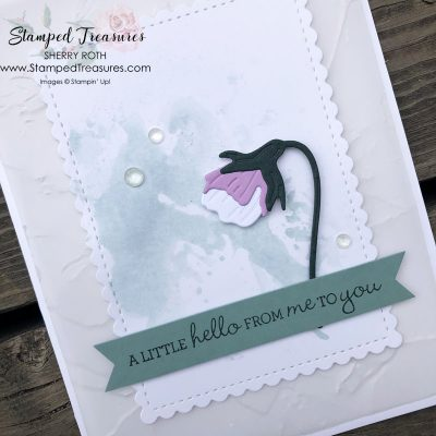 An Elegant Pansy Patch Card