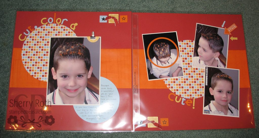 Scrapbook Layout with Circles